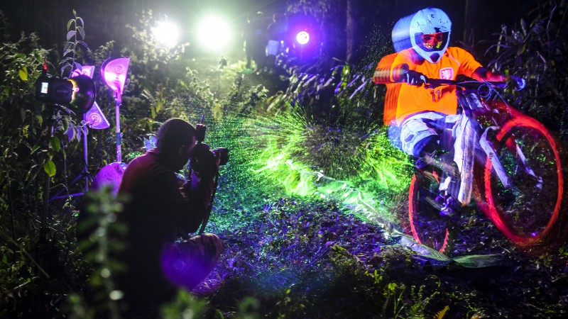 Black Light Bikes from Red Bull Photography