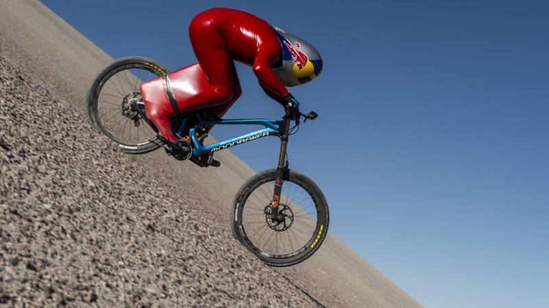 A real-life Mad Max? Markus 'Max' Stöckl hits a top speed of 167.6 km/h on a standard MTB